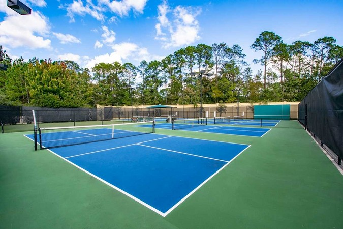 6 har tru clay pickle ball courts and tennis courts